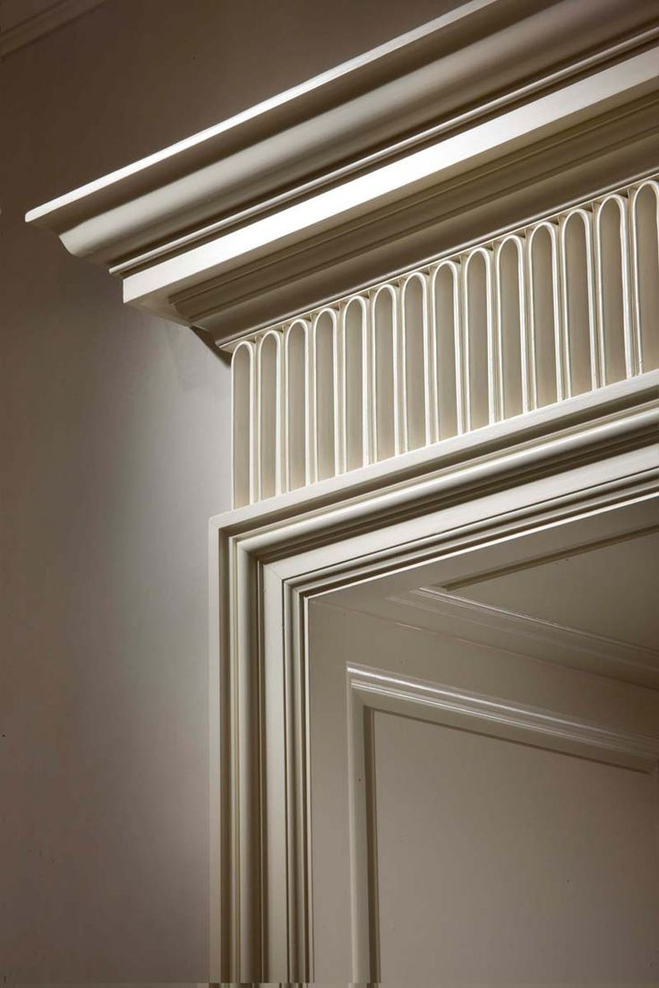 Over door decorative molding