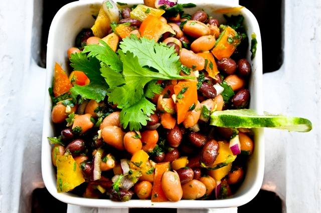 Pinto Bean Salad Recipe With Avocado, Tomatoes, Red Onion, And ...