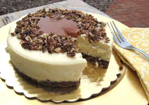 Caramel pecan cheesecake. | Our Pastries | Pinterest