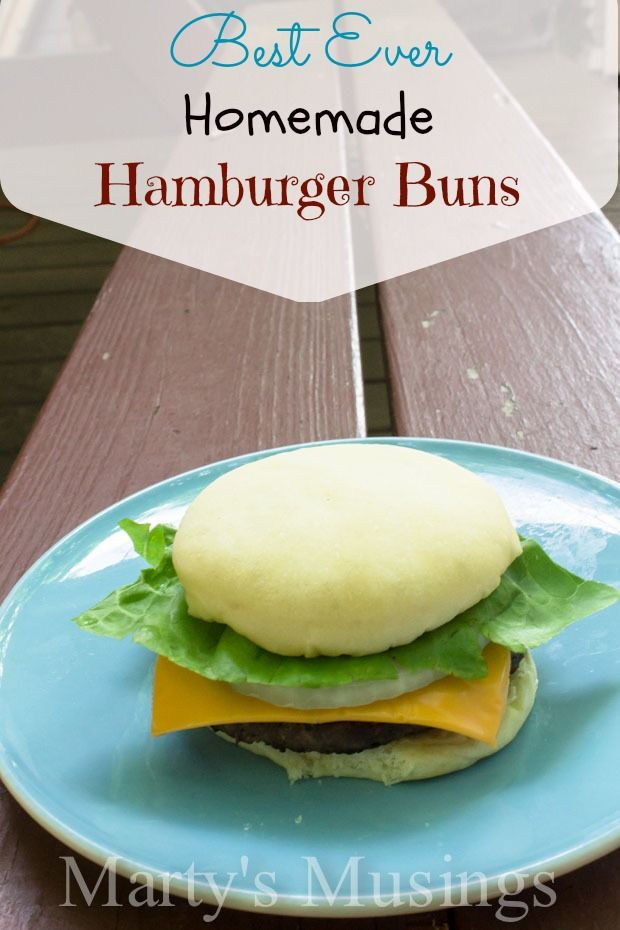 ... for the 4th! Best Ever Homemade Hamburger Buns from Marty's Musings