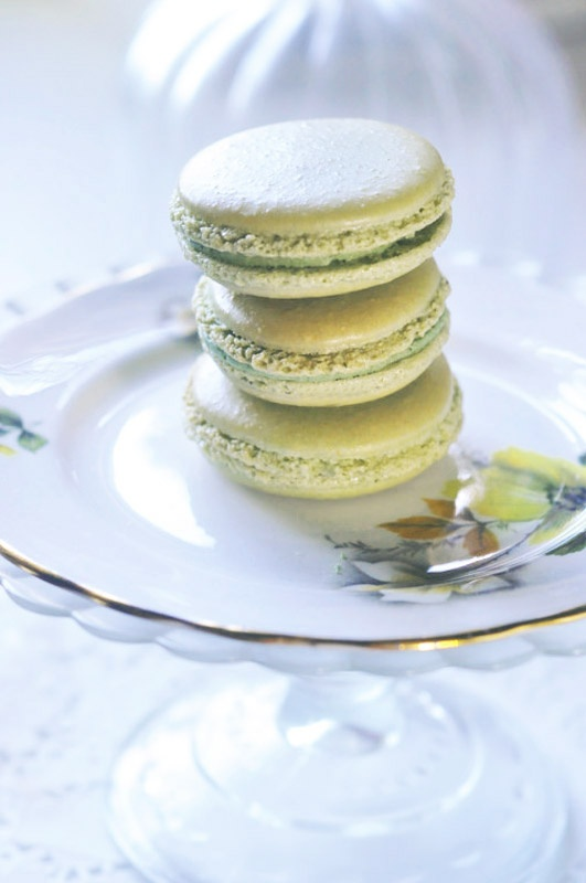 Pistachio macarons | tea party (possibly mad) | Pinterest