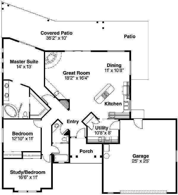 santa fe southwest house plan 69352