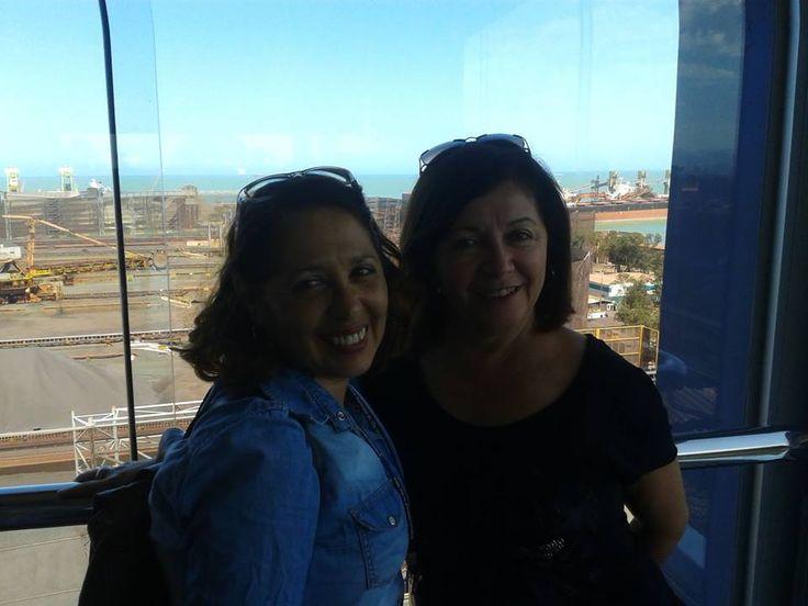 Fiscais (Aldete e Anna Araújo) em visita técnica na Vale no Complexo do Tubarão, Vila Velha, ES, em 12/9/14