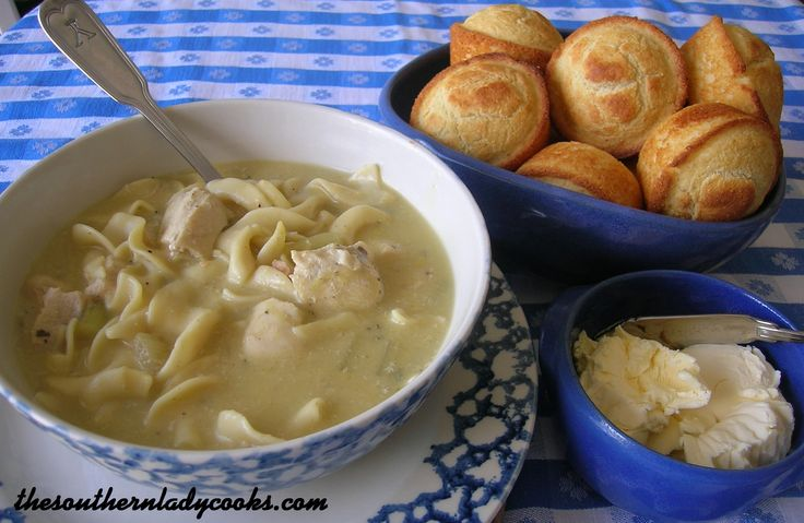 HOMEMADE CHICKEN NOODLE SOUP/Good, quick and easy. I do not put the ...