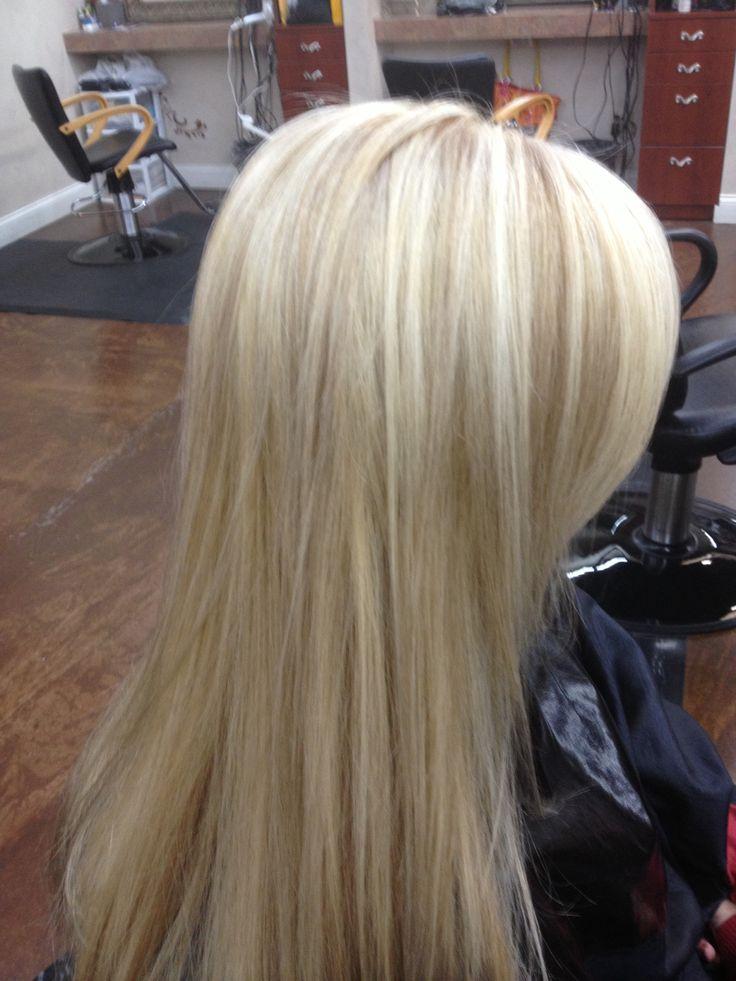 Platinum Blonde With Lowlights | Dark Brown Hairs