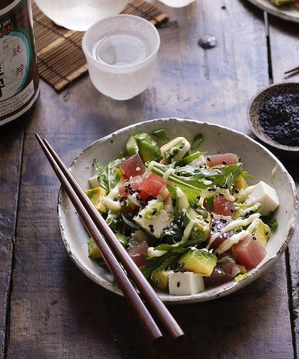 ... this soon (jill dupleix's tuna, avocado and tofu with wasabi cream