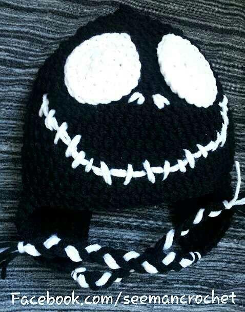 Jack Skellington Crochet Beanie Crochet Pinterest