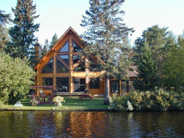 Timber Block Log Home Lakeside House Ideas Pinterest