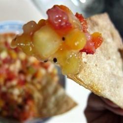 Annie's Fruit Salsa and Cinnamon Chips: 312 calories per serving