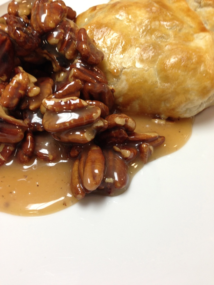 Caramel Pecan Brie en Croute from a corporate appetizer party ...