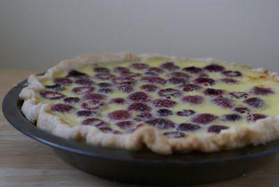 Raspberry Custard Pie | Yummies | Pinterest