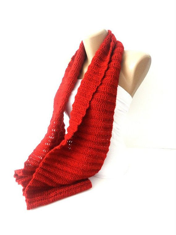 infinity scarf cowlscarf scarves handmade Red Neck Scarves For Women