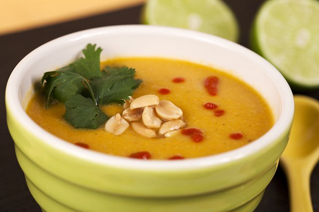 Sweet Potato and Peanut Soup (Vegan) Looks interesting. May have to ...