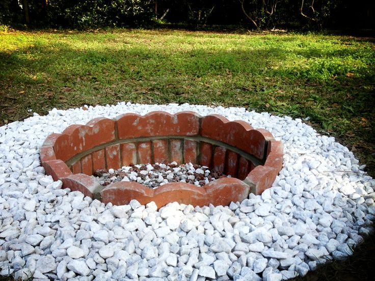 Backyard Fire Pit Diy : DIY Backyard Fire Pit  Sunroom  Outdoors  Pinterest