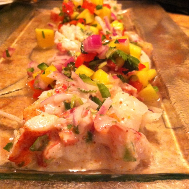 Lobster ceviche at Desnuda, which is right across the street from our ...