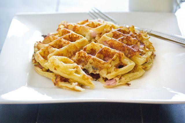 Ham 'n' Cheese Waffle - A Zesty Bite