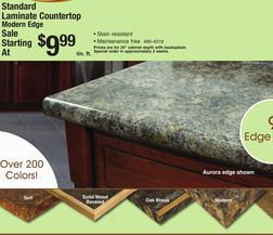 Countertop Edges Menards : Standard Laminate Countertop Modern Edge from Menards $9.99