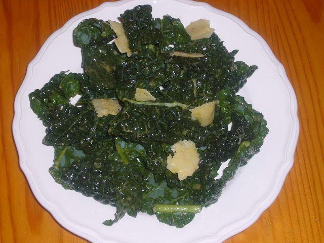 Kale Salad with Roasted Garlic Dressing | Salads | Pinterest