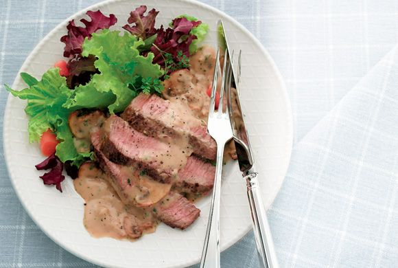 Skillet Steak with Mushroom Sauce | Dinner | Pinterest