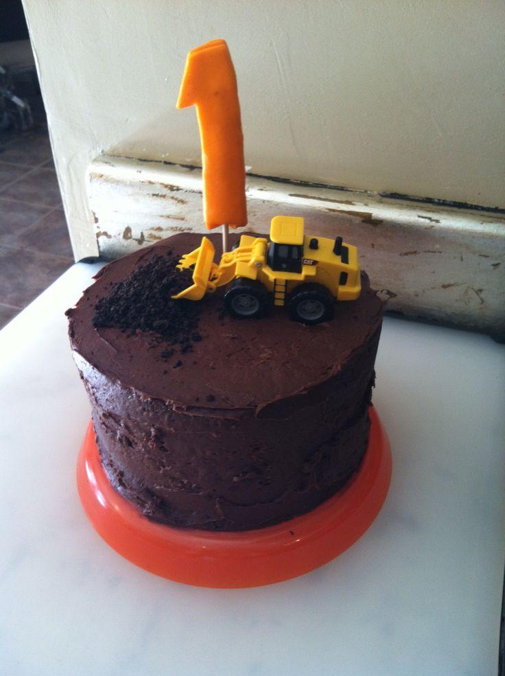 construction smash cake
