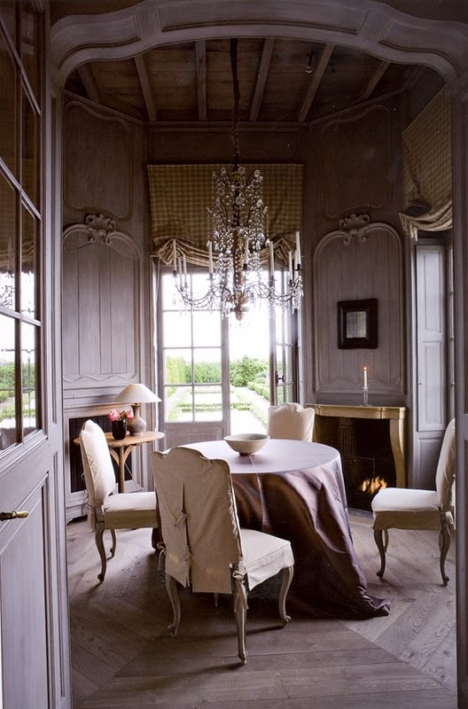Dining room beautiful paneling dining rooms pinterest Pretty dining rooms