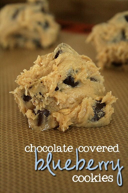 choc covered blueberry cookies   blueberries   Pinterest