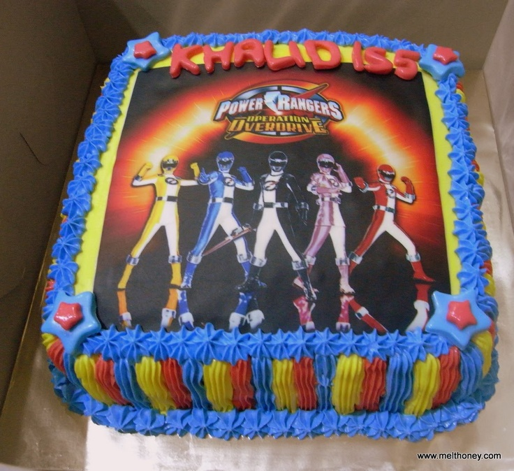 Pin Power Rangers With Edible Image Childrens Birthday