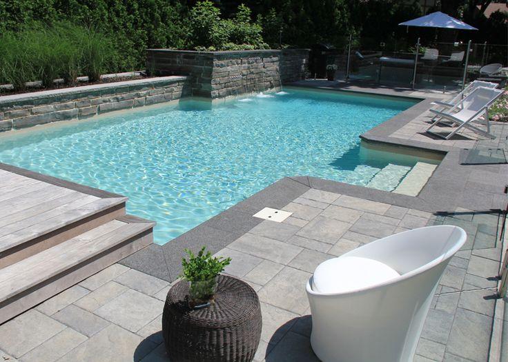 Am nagement paysager simple et chic piscines pinterest for Amenagement paysager simple