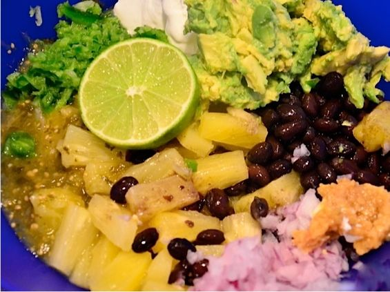Adding Fruit to Guacamole and Bush's Black Bean Pineapple Guacamole ...