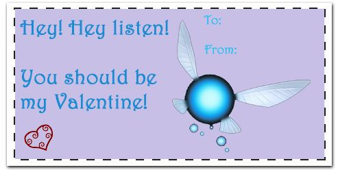 zelda valentines day card