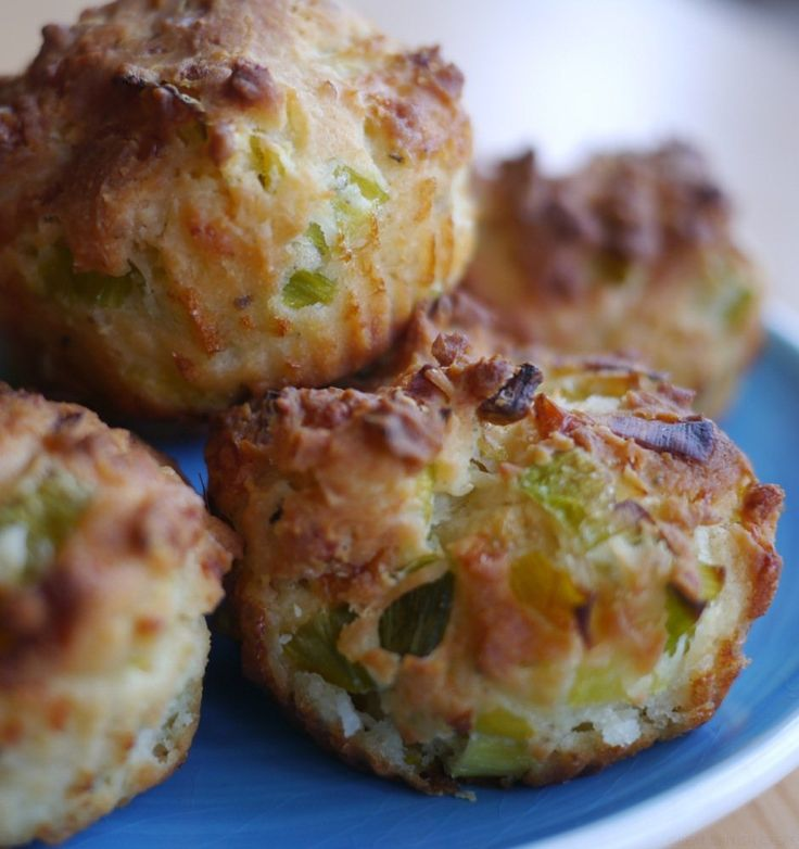 Gluten-Free Cheddar and Leek Muffins - Great British Chefs
