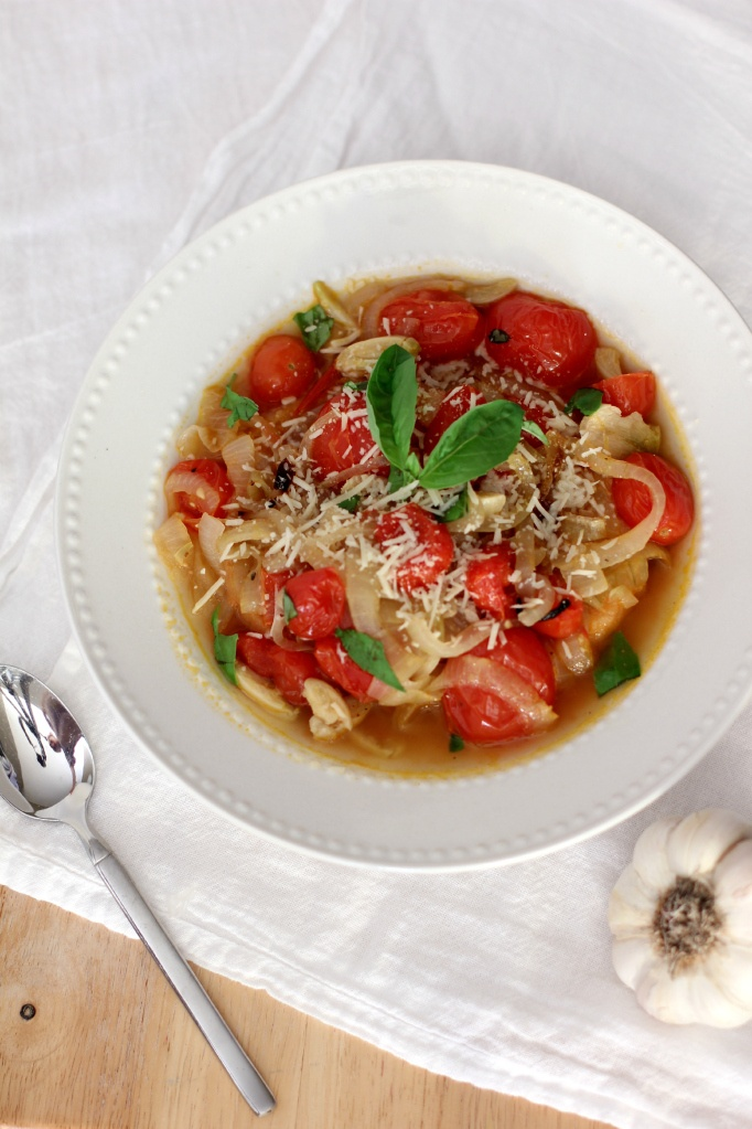 roasted tomato and onion bread soup. | Deliciousness | Pinterest