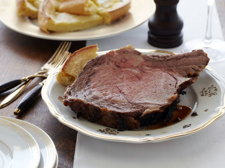 Standing Rib Roast (Prime Rib) With Yorkshire Pudding Recipes ...