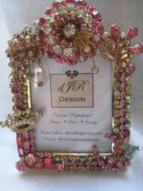 Pretty in PInk . . .Rhinestone Jewelry Picture Frame