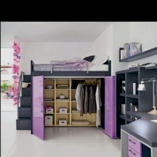 Loft Bed With Closet Under May Have To Try This If My