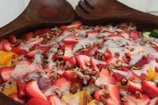 Strawberry, Mandarin Orange, and Poppy Seed Dressing Salad - House of ...