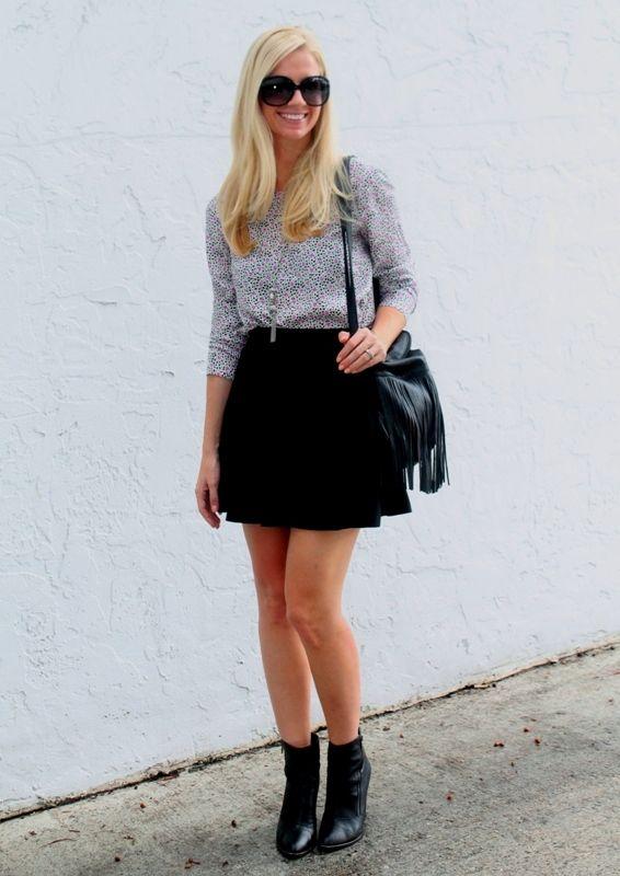Skater skirt u0026 ankle boots | dress up | Pinterest
