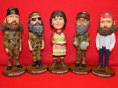 Duck Dynasty Bobble Head Dolls Set ALL 5 Kay Phil Si Jase Willie Bobblehead Doll