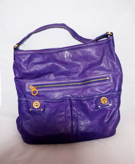 Marc Jacobs purple handbag by Violetshome on Etsy, 105.00