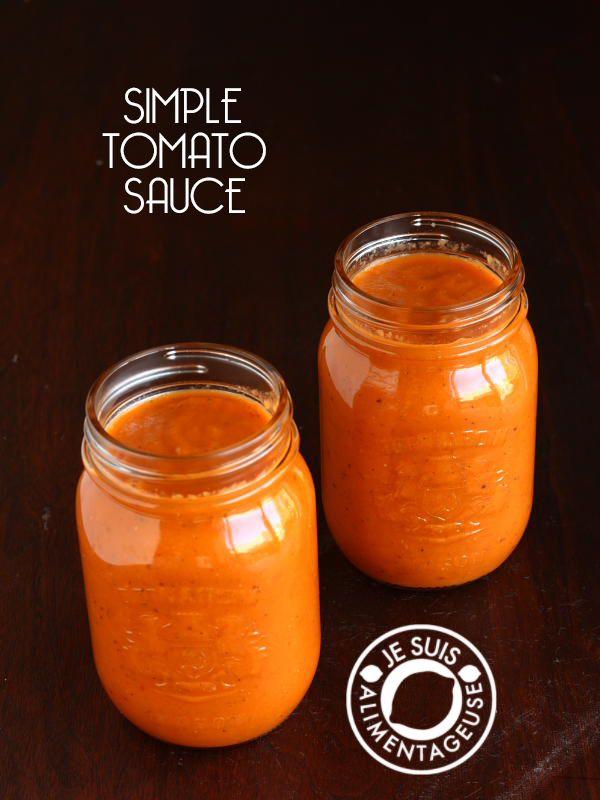 Simple Tomato Sauce - Je suis alimentageuse