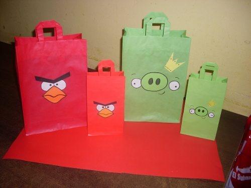 Bolsitas De Papel Para Cumpleaños Angry Birds