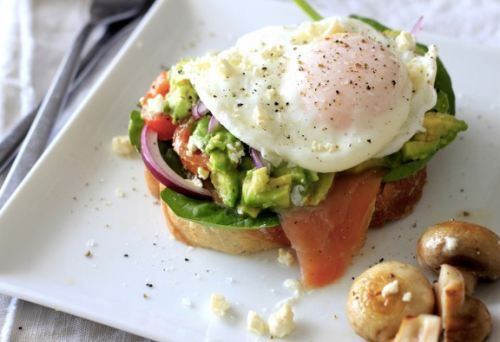 Salmon open faced sandwich | Food and Drink | Pinterest
