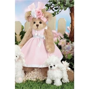 "Paulina and Pom Pom 14"" Bearington Dressed Teddy Bear with White Poodle (Toy)  http://postteenageliving.com/amazon.php?p=B00134RXAM"