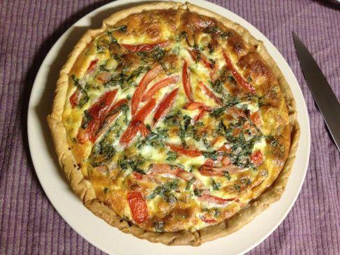 Tomato, basil and mozzarella quiche | Dinner/Savoury | Pinterest