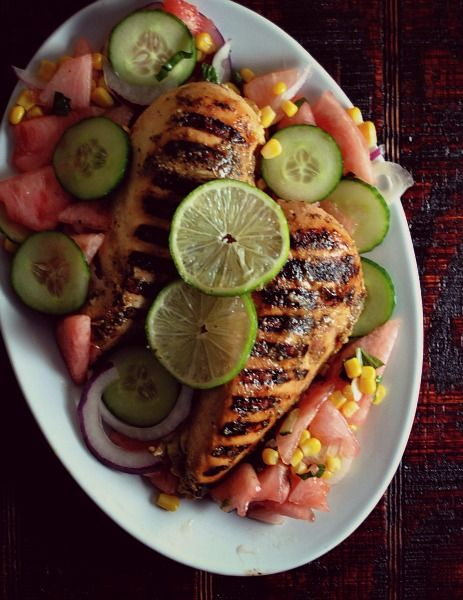 Easy Lime-Garlic Grilled Chicken Breasts | Food | Pinterest