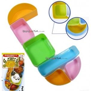 Japanese Bento Accessories Silicon Food Cup 6 Pcs