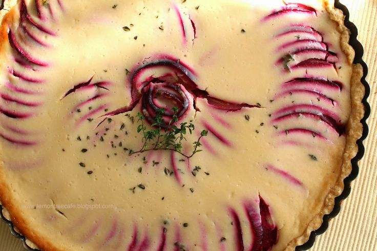 ... tree cafe plum tart with mascarpone cream and thyme - plum tart
