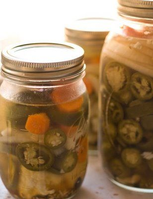 Pickled jalapenos (escabeche) | Homesick Texan.....my favorite green ...
