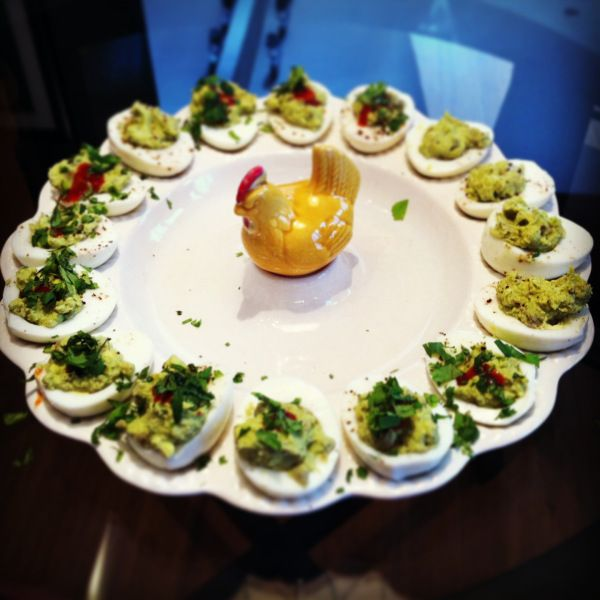 ... : Clean Eating Paleo Avocado Deviled Eggs with Sriracha and Cilantro