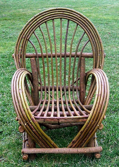 Bent Willow Chair Cottage Pinterest
